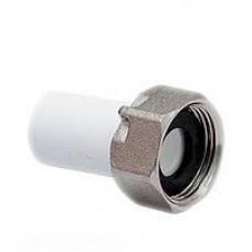 Штуцер для водомера 20х3/4 п/пломбу белый